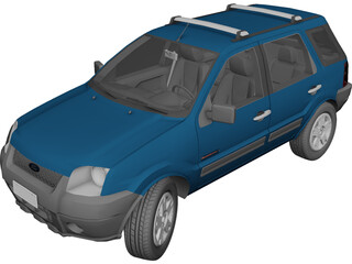 Ford EcoSport FreeStyle (2007) 3D Model