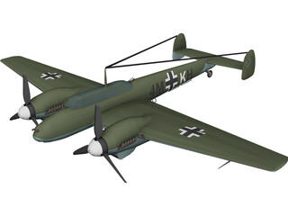 Messerschmitt BF-110 Winter Camo 3D Model