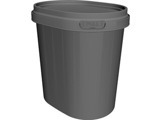 Bucket Container CAD 3D Model