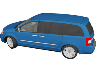 Chrysler Town and Country (2013) 3D Model