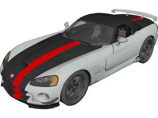 Dodge Viper SRT-10 ACR Soft Top 3D Model