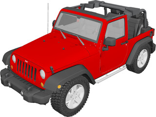 Jeep Wrangler Rubicon (2007) 3D Model