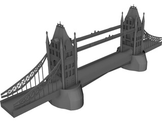 London Tower Bridge 3D Model