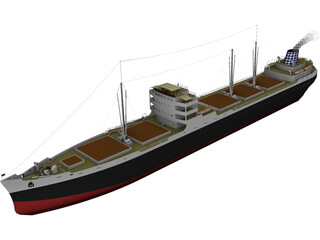 MS Munchen Cargo Ship 3D Model