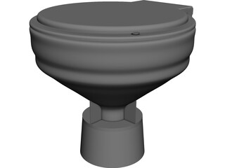 Electric Toilet 3D Model