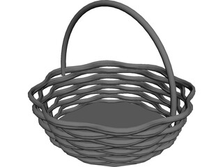 Basket with Handle 3D Model