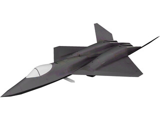 Northmann YF-23 Black Widow II 3D Model