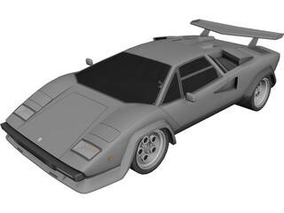 Lamborghini Countach LP500 3D Model