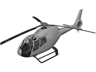 Eurocopter EC-120 3D Model 3D Preview