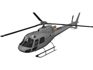 Eurocopter AS-350 3D Model