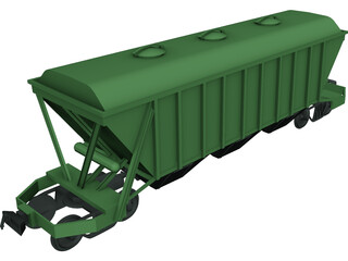 Railway Train Wagon 3D Model