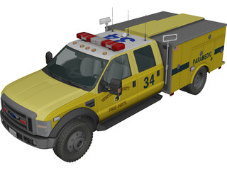Ford F450 Rescue 3D Model