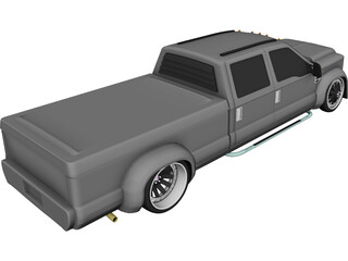 Ford F350 Truck [Tuned] 3D Model