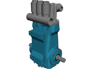 CAT 2510 High Pressure Pump CAD 3D Model