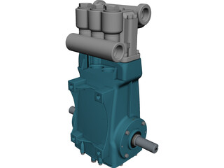 CAT 3520 High Pressure Pump CAD 3D Model