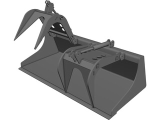 Grapple Bucket CAD 3D Model