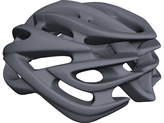 Bicycle Helmet CAD 3D Model