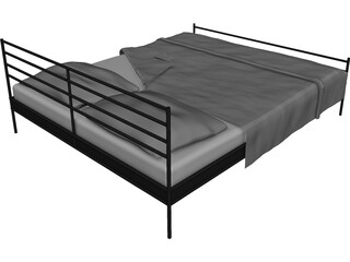 Bed Double 3D Model