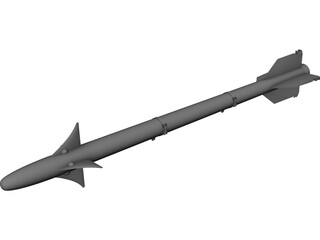 AIM-9 Sidewinder CAD 3D Model