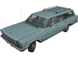 Ford Country Squire (1966) 3D Model