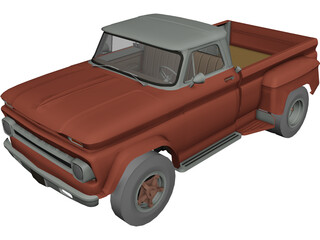 Chevrolet C60 Pickup Dually (1966) 3D Model