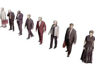 People Collection Low-Poly 3D Model