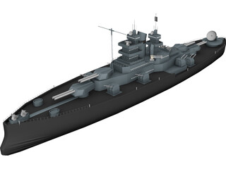 USS Nevada (BB-36) 3D Model