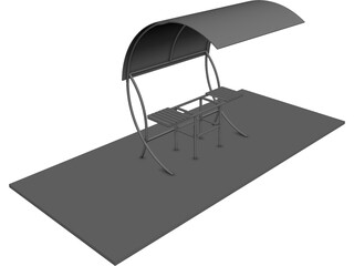 Barbecue CAD 3D Model