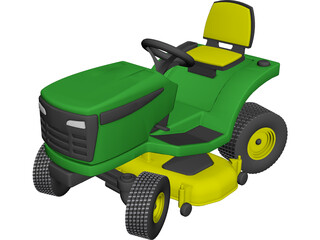 Lawnmower Sit-On 3D Model