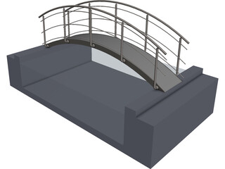 Bridge Pool CAD 3D Model