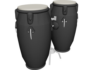 Bongo Percusion Instrument 3D Model
