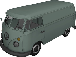 Volkswagen Kombi Type 2 3D Model