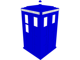 Doctor Who Tardis Exterior 3D Model