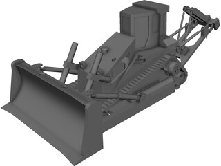 D8 Bulldozer CAD 3D Model