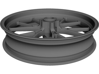 KTM Duke 2 Front Wheel CAD 3D Model