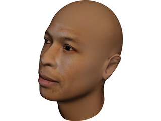 Dr Dre Head 3D Model