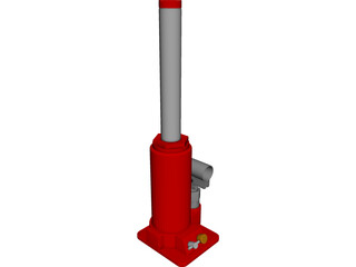 Hydraulic Jack [NURBS] 3D Model