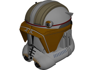 Commander Cody Helmet 3D Model