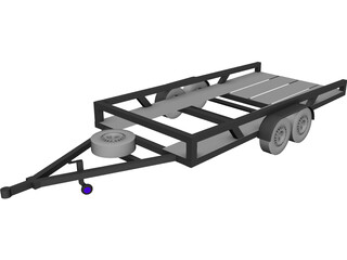 Car Trailer 3D Model 3D Preview