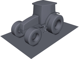 New Holland 250hp Tractor CAD 3D Model