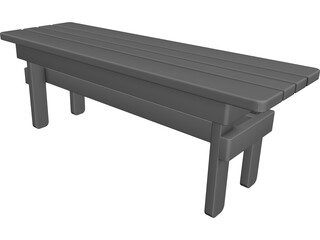Entryway Bench CAD 3D Model