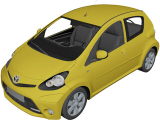Toyota Aygo (2013) 3D Model 3D Preview