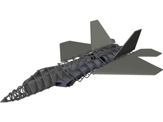 F-22 Raptor RC CAD 3D Model