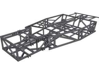 Kit Car Frame CAD 3D Model
