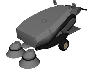 Tennant 414 Air Sweeper 3D Model