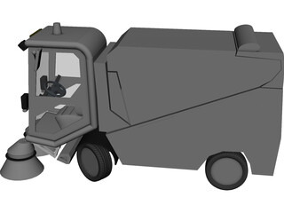 Tennant 636 Vacuum Sweeper 3D Model