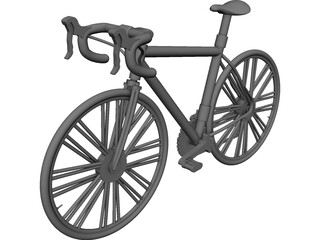 Race Bicycle 3D Model