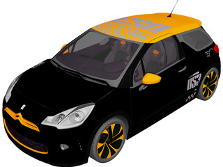 Citroen DS3 Racing (2011) 3D Model
