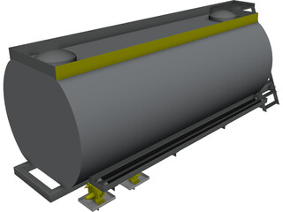 Oil Tanker Body CAD 3D Model