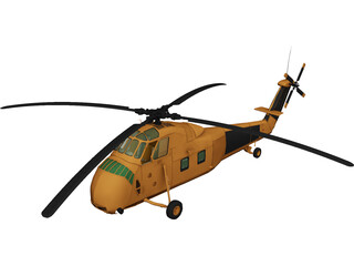 Sikorsky H-34 Choctaw (HUS) 3D Model